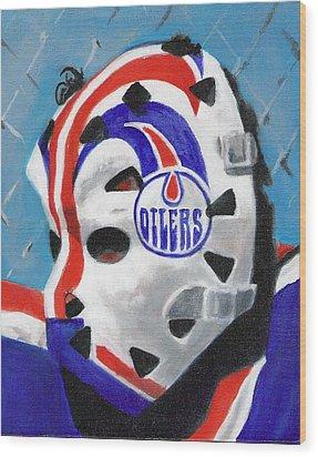 Masked Fuhr Wood Print by Paul Smutylo