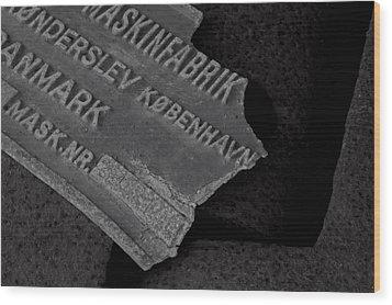 Maskinfabrik Wood Print by Odd Jeppesen