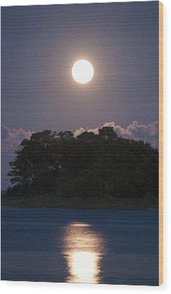 Masonboro Moonrise Wood Print