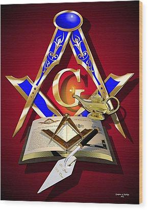 Masonic Education Wood Print by Stephen McKim