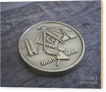 Masonic Medal Wood Print