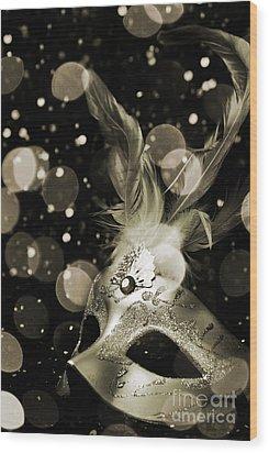 Masquerade Wood Print by Jelena Jovanovic
