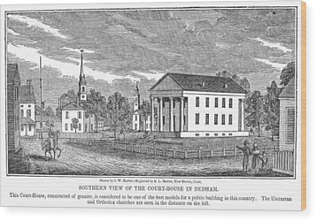 Massachusetts Dedham Wood Print by Granger