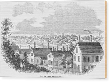 Wood Print featuring the painting Massachusetts Salem, 1854 by Granger