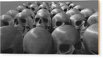 Massacre Of Skulls Wood Print by Allan Swart