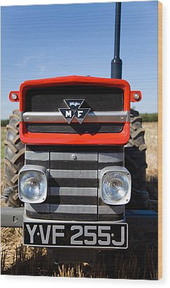 Massey Ferguson 135 Vintage Tractor Wood Print by Paul Lilley