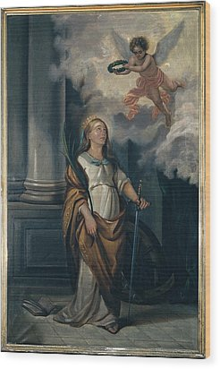 Massimo Diodato, St Catherine Wood Print by Everett