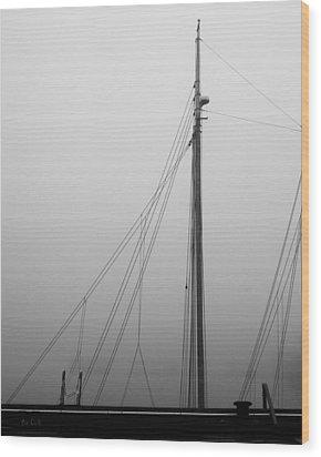 Mast And Rigging Wood Print by Bob Orsillo