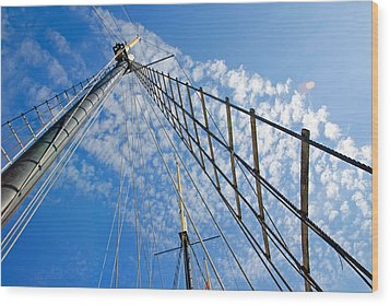 Masted Sky Wood Print by Keith Armstrong