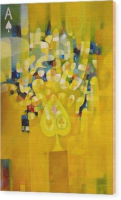 Master Of Spades Wood Print by Ronex Ahimbisibwe