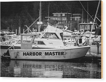 Master Of The Harbor Wood Print by Melinda Ledsome