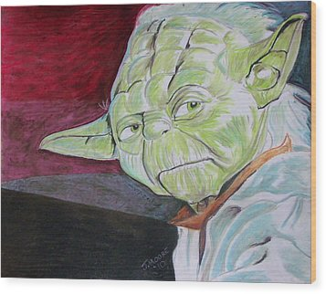 Master Yoda Wood Print by Jeremy Moore