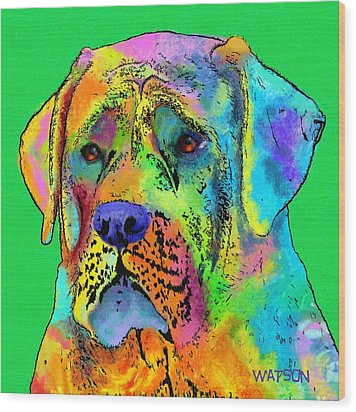 Mastiff Wood Print by Marlene Watson