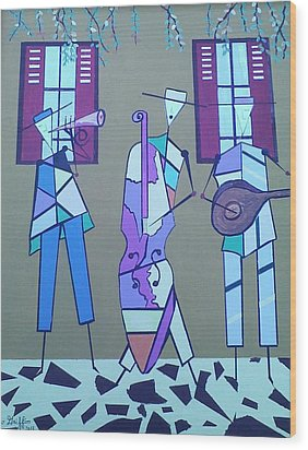 Matadores Of Music Lll Wood Print by Lew Griffin
