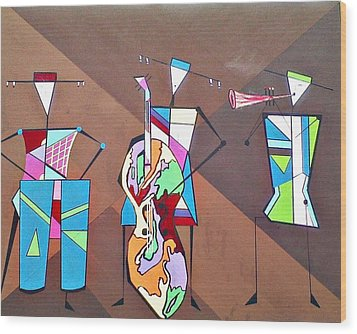 Matadors Of Music II Wood Print by Lew Griffin