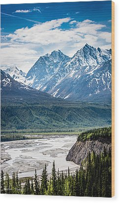 Matanuska River  Wood Print