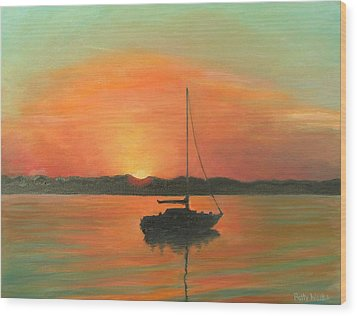 Matanzas Bay Sunrise Wood Print