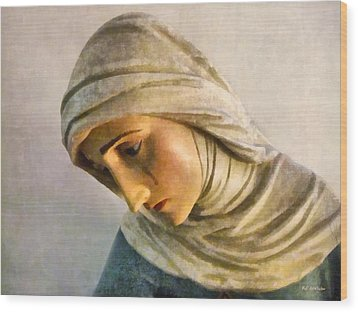 Mater Dolorosa Wood Print by RC deWinter