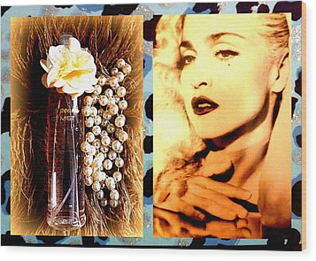 Material Girl Wood Print by The Creative Minds Art and Photography