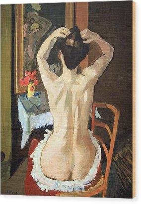 Matisse's La Coiffure Wood Print