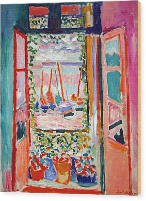 Matisse's Open Window At Collioure Wood Print