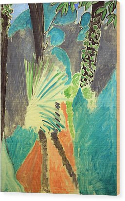 Matisse's Palm Leaf In Tangier Wood Print
