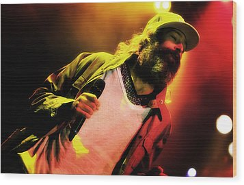Matisyahu Live In Concert 2 Wood Print by Jennifer Rondinelli Reilly - Fine Art Photography