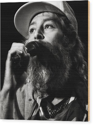 Matisyahu Live In Concert 3 Wood Print by Jennifer Rondinelli Reilly - Fine Art Photography