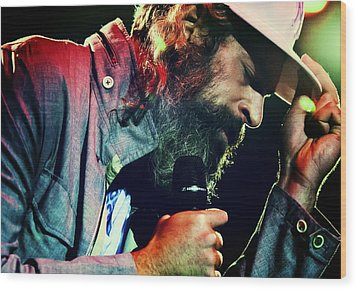 Matisyahu Live In Concert 7 Wood Print by Jennifer Rondinelli Reilly - Fine Art Photography