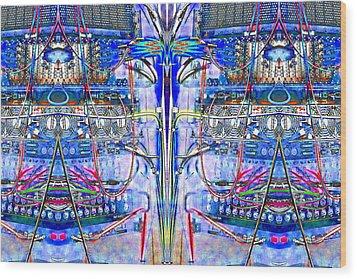 Matrix Blues Wood Print
