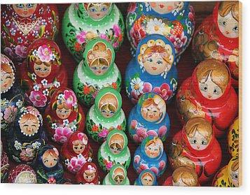 Matryoshka Dolls Wood Print