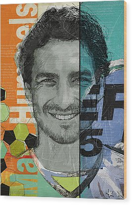 Mats Hummels - B Wood Print by Corporate Art Task Force