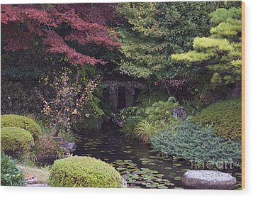 Wood Print featuring the photograph Matsue Garden by Cassandra Buckley