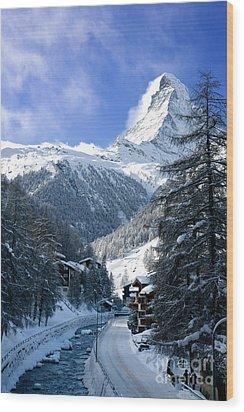 Matterhorn  Wood Print by Brian Jannsen