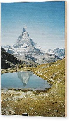 Matterhorn Cervin Reflection Wood Print