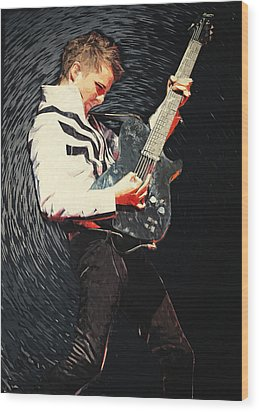 Matthew Bellamy Wood Print by Taylan Apukovska