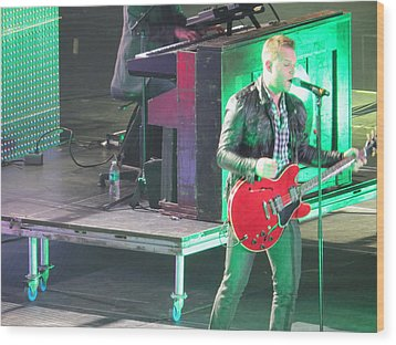 Wood Print featuring the photograph Matthew West At Winterjam by Aaron Martens