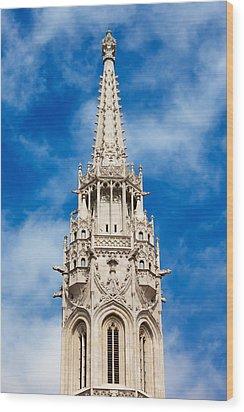 Matthias Church Bell Tower In Budapest Wood Print by Artur Bogacki