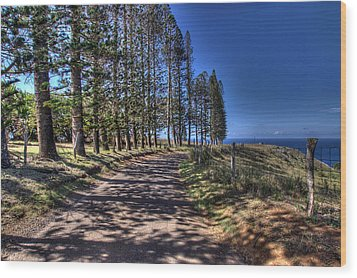 Maui Back Roads Wood Print