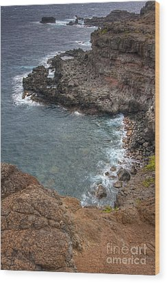 Wood Print featuring the photograph Maui Cliff by Bryan Keil