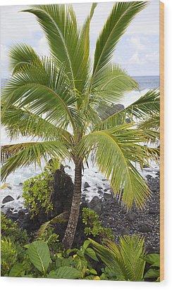 Maui Coast Wood Print by Jenna Szerlag