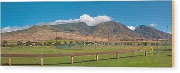 Maui Hawaii Mountains Near Kaanapali   Wood Print