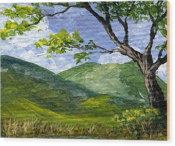 Maui Landscape Wood Print by Darice Machel McGuire