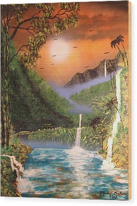 Maui Wood Print by Michael Rucker