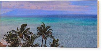 Maui Panorama Wood Print