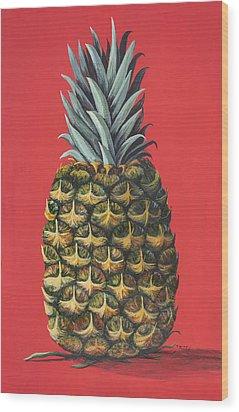 Maui Pineapple 2 Wood Print by Darice Machel McGuire