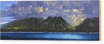 Maui Splendor Wood Print