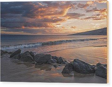 Maui Sunbathe Wood Print