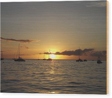 Wood Print featuring the photograph Maui Sunset by James McAdams