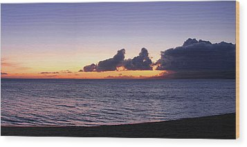 Wood Print featuring the photograph Maui Sunset Panorama by Harold Rau